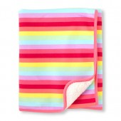 Baby Girls Rainbow Stripe Cozy Blanket