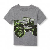 Toddler Boys Short Sleeve Jeep Graphic Tee