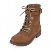 Girls Lace-Up Buckle Kacey Boot