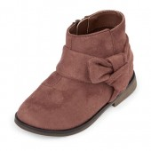 Toddler Girls Faux Suede Bow Bootie