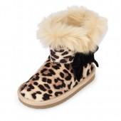 Toddler Girls Faux Fur Printed Bow Boot