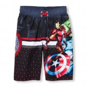 Boys Avengers Printed Swim Trunks