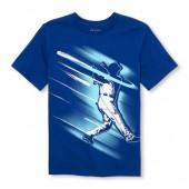 Boys Short Sleeve Baseball Batter Graphic Tee