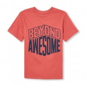 Boys Short Sleeve Beyond Awesome Graphic Tee