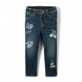 Baby And Toddler Boys Doodle Graphic Super Stretch Skinny Jeans