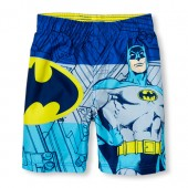 Toddler Boys Batman Printed Swim Trunks