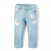 Baby And Toddler Girls Butterfly Patch Jeans
