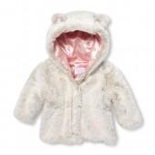 Baby Girls Hooded Faux Fur Jacket