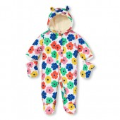 Baby Girls Long Sleeve Lady Bug Snowsuit Set