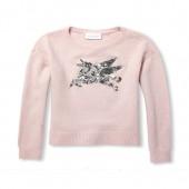 Girls Sequin Graphic Metallic Sweater