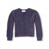 Girls Long Sleeve Metallic Eyelash Sweater
