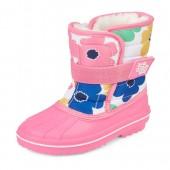 Toddler Girls Flower Print Snow Boot