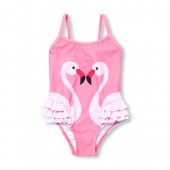 Baby And Toddler Girls Flamingo Ruffle One-Piece Swimsuit