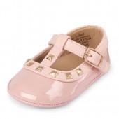 Baby Girls Studded T-Strap Ballet Flat