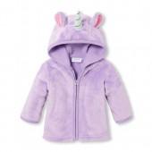 Baby Girls Long Sleeve Unicorn Cozy Jacket