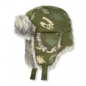 Toddler Boys Faux Fur Dino Trapper Hat
