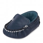 Baby Boys Faux Leather Moccasin Loafer