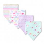 Baby Girls Rainbow Cloud Bib 4-Pack
