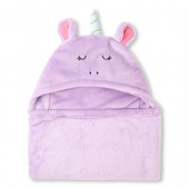 Baby Girls Unicorn Hooded Cozy Blanket