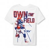Boys Short Sleeve Own The Field Football Graphic Tee
