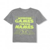 Boys Short Sleeve Winning Games Taking Names Graphic Tee
