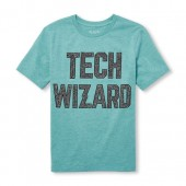 Boys Short Sleeve Tech Wizard Graphic Tee