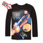 Boys Long Sleeve Space Animated Graphic Tee