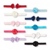 Baby Girls Bow and Flower Headwrap 10-Pack