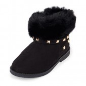 Toddler Girls Faux Fur Studded Anna Bootie