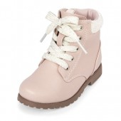 Toddler Girls Lace-Up Combat Boot