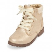 Toddler Girls Lace-Up Ginger Combat Boot