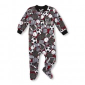 Baby And Toddler Boys Long Sleeve Dads Champ Sports Print Footed Blanket Sleeper