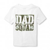Baby And Toddler Boys Short Sleeve 'Dad Squad' Graphic Tee
