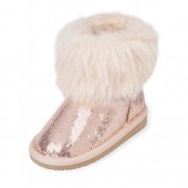 Toddler Girls Faux Fur Sequin Chalet Boot