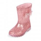 Toddler Girls Glitter Light-Up Rainboot