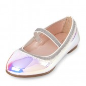Toddler Girls Holographic Ballet Flat