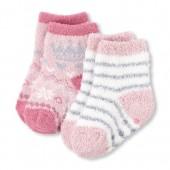 Toddler Girls Metallic Crown Cozy Socks 2-Pack