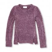 Girls Long Sleeve Metallic Sweater
