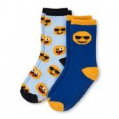 Boys Emoji Cozy Socks 2-Pack