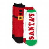 Unisex Santas Squad Christmas Cozy Socks 2-Pack