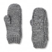 Girls Sparkle Cable Mittens