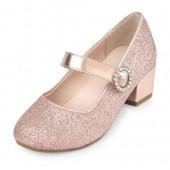 Girls Glitter Annie Mini Heel
