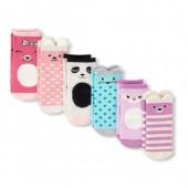 Toddler Girls Critter Midi Socks 6-Pack