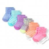 Toddler Girls Printed Turn-Cuff Socks 6-Pack
