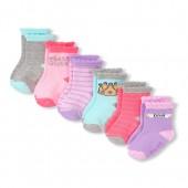 Toddler Girls Metallic Icon Midi Socks 6-Pack