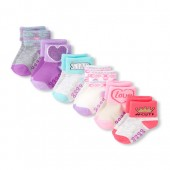 Toddler Girls Metallic Icon Roll-Cuff Socks 6-Pack