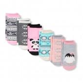 Toddler Girls Fairisle Midi Socks 6-Pack