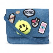 Girls Glitter Patch Denim Bag