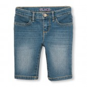 Girls Denim Skimmer Short - Blue Bell Wash