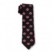 Boys Santa Emoji Print Tie